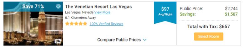 Hotel deal Las Vegas