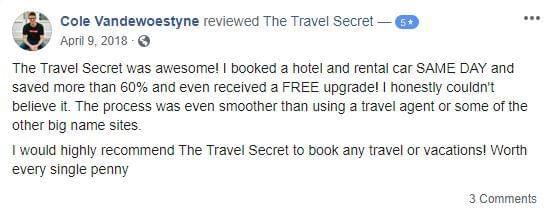 Facebook reviews of The Travel Secret