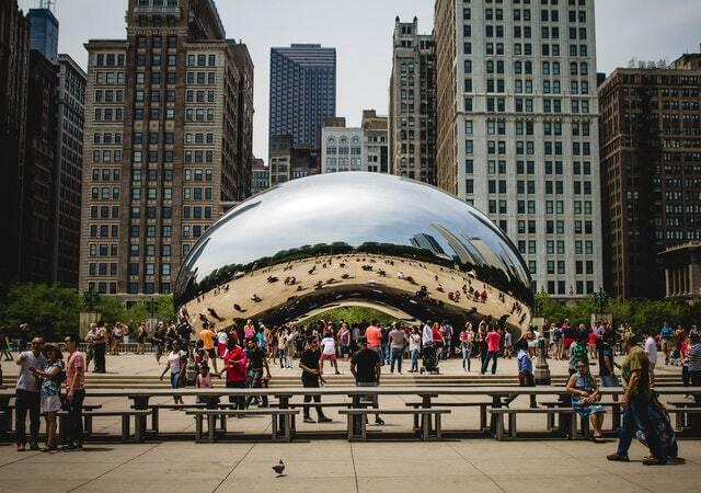 The Cloud Gate in Chicago