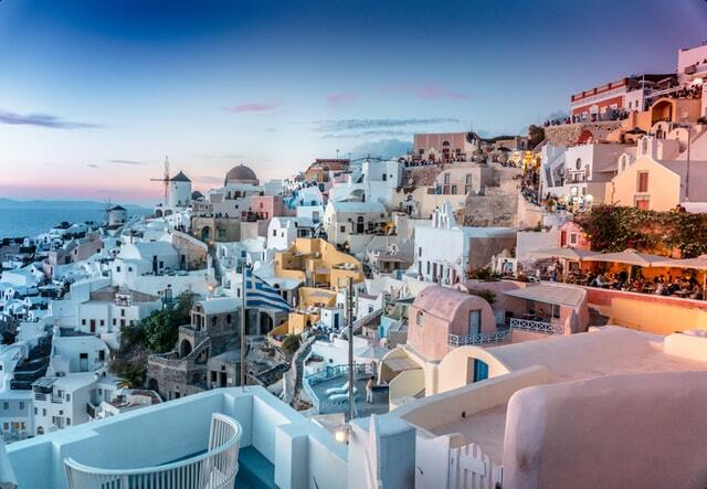 A perfect sunset in Santorini Greece, perfect place to visit in 2021