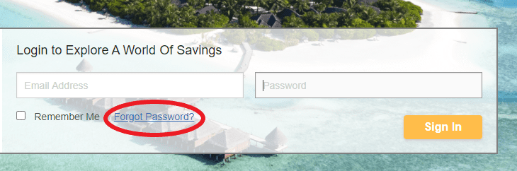 Log into The Travel Secret account if you forget the password