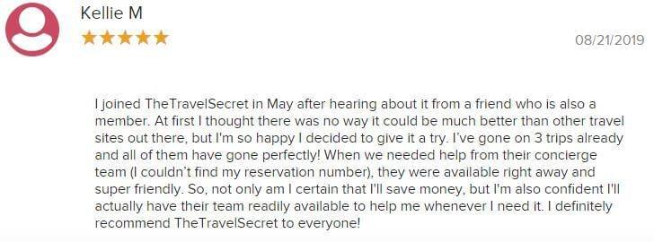 Better Business Bureau reviews of The Travel Secret