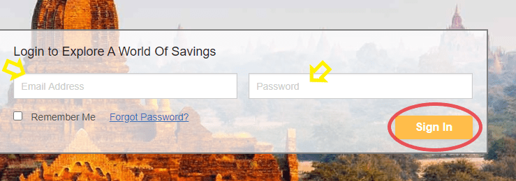 The Travel Secret Log in on your Computer