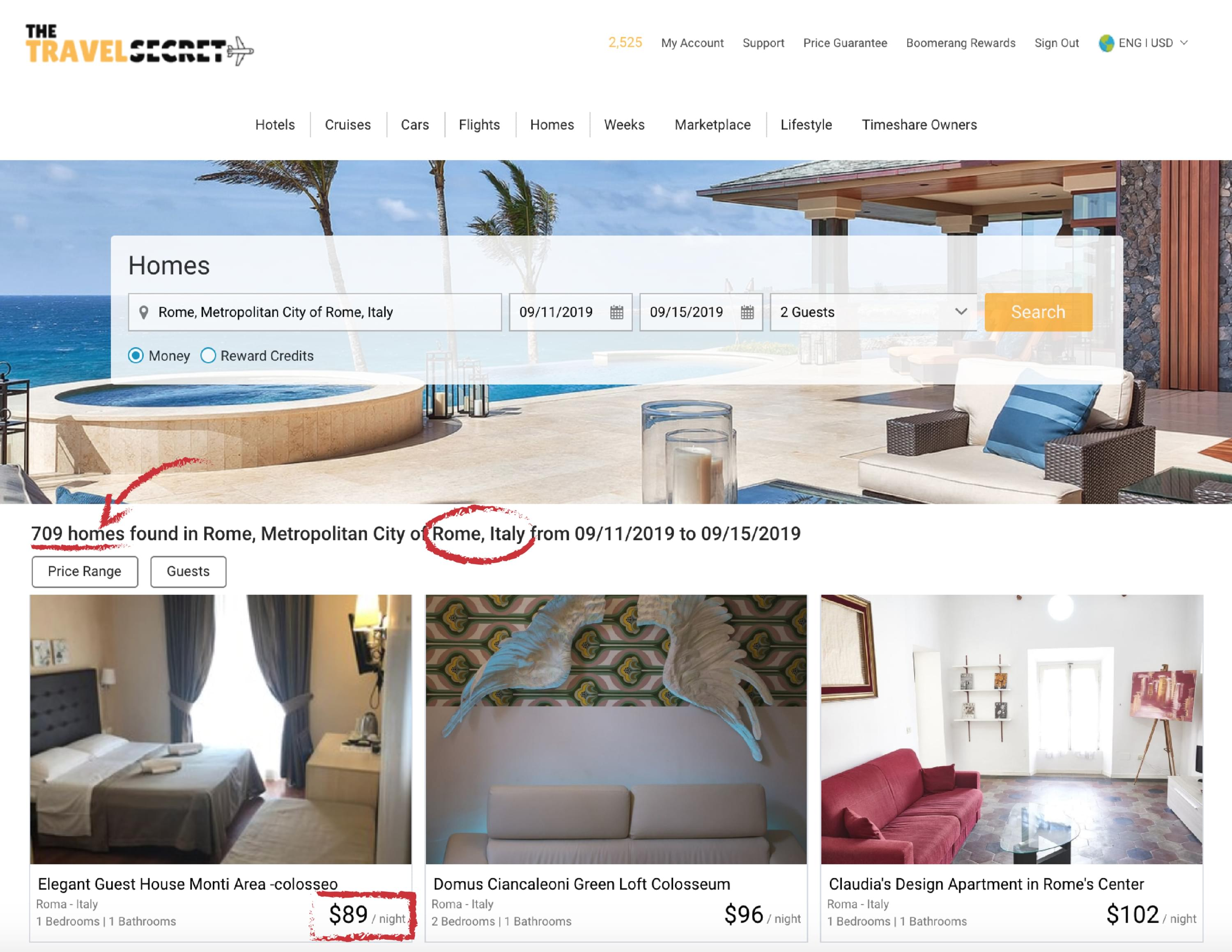 homeaway rentals with the travel secret membership