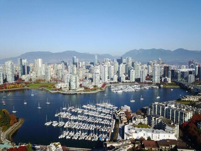 Landscape in Vancouver Canada, a city to visit in 2021